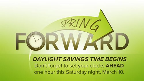 Spring Forward Daylight Savings Time