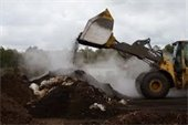 Compost Site with heavy equipment