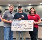 Flag Runner Donation to City of Elk River