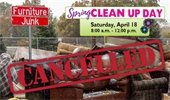 Spring Clean Up Day Event Cancelled