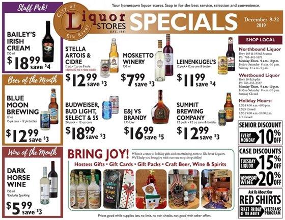 Liquor Store Specials December 9-22