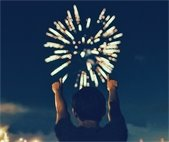 Fireworks on July 4