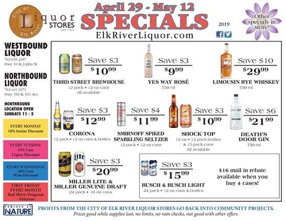 Liquor Store Specials April 29 - May 12