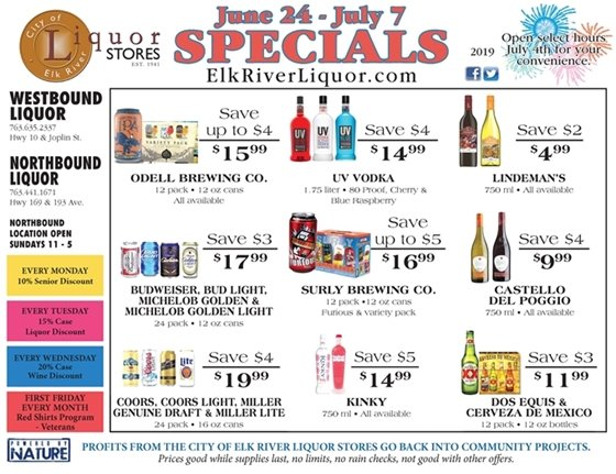 Liquor Store Specials June 24 - July 7