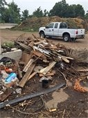 Items pulled from compost pile that don't belong