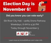 Active Elk River - Early Voting Graphic
