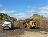 Sweeper Debris Hauled Away from Maintenance Facility