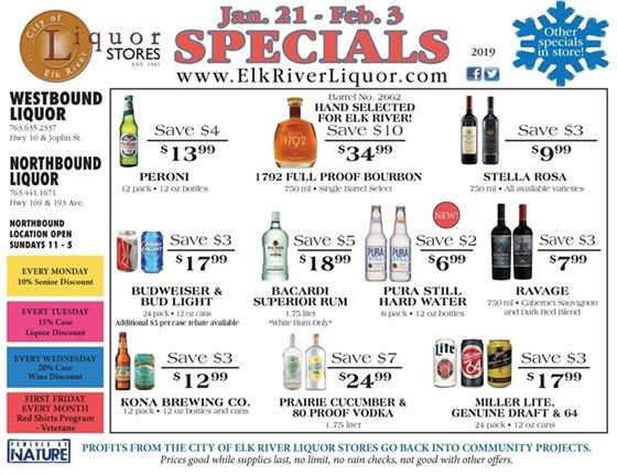 Liquor Store Specials January 21 - February 3