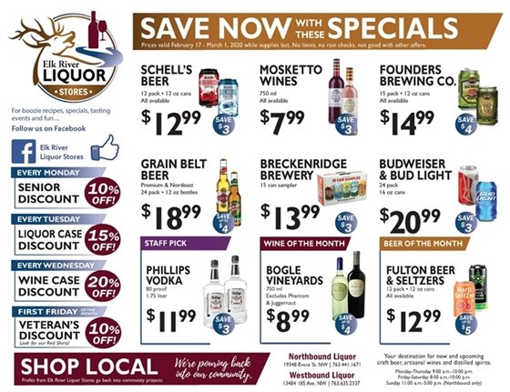 Liquor Store Specials February 17 - March 1