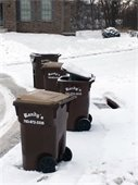Trash Carts and Plow Operations