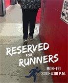 Running Only Weekdays 3:00-4:00 p.m. at Arena
