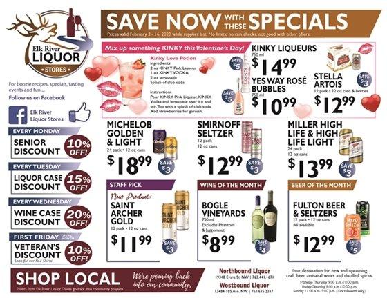 Liquor Store Specials Feb 3-16