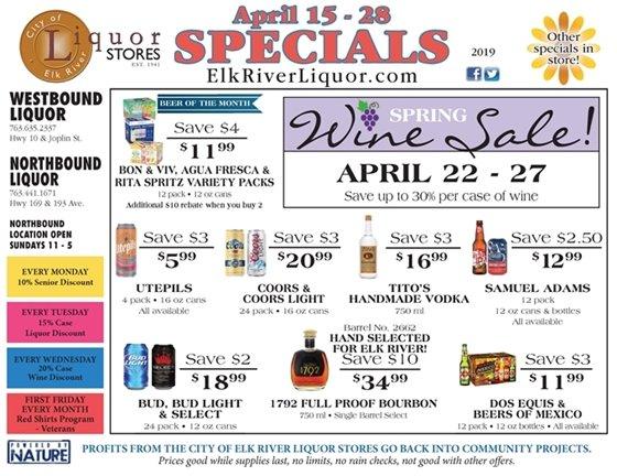 Liquor Store Specials April 14 - 22