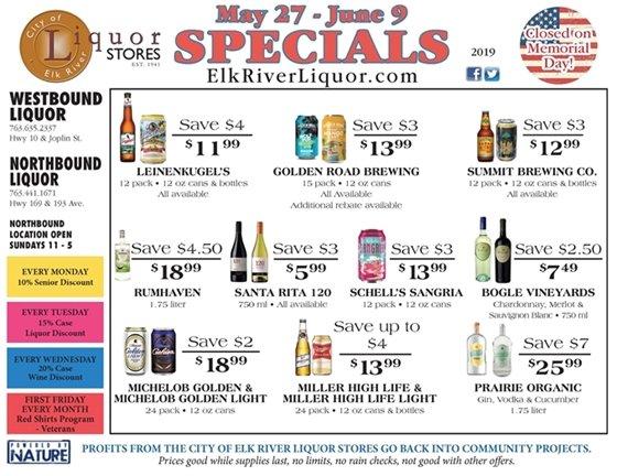 Liquor Store Specials May 27 - June 9