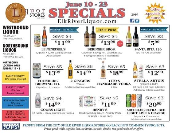 Liquor Store Specials June 10-23