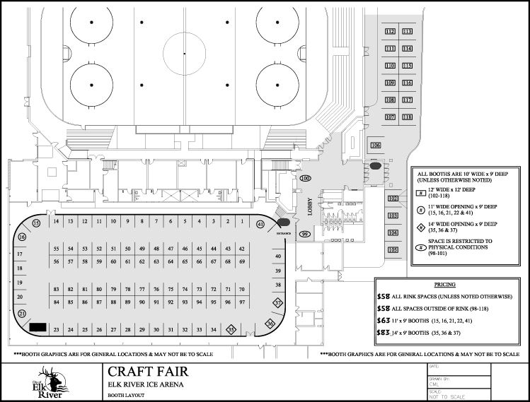Blank craft show map