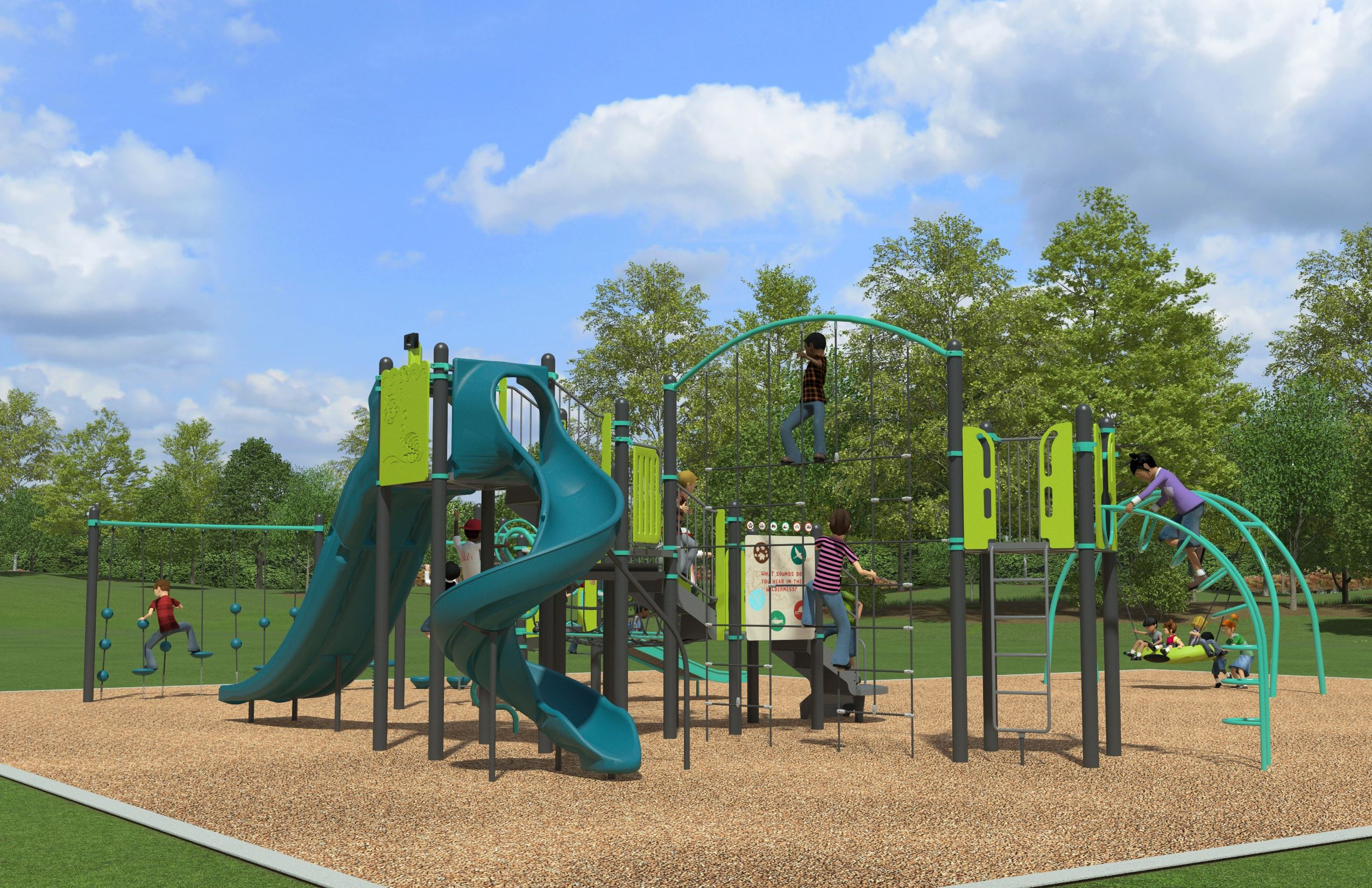 Deerfield Hill Park New Playground Rendering