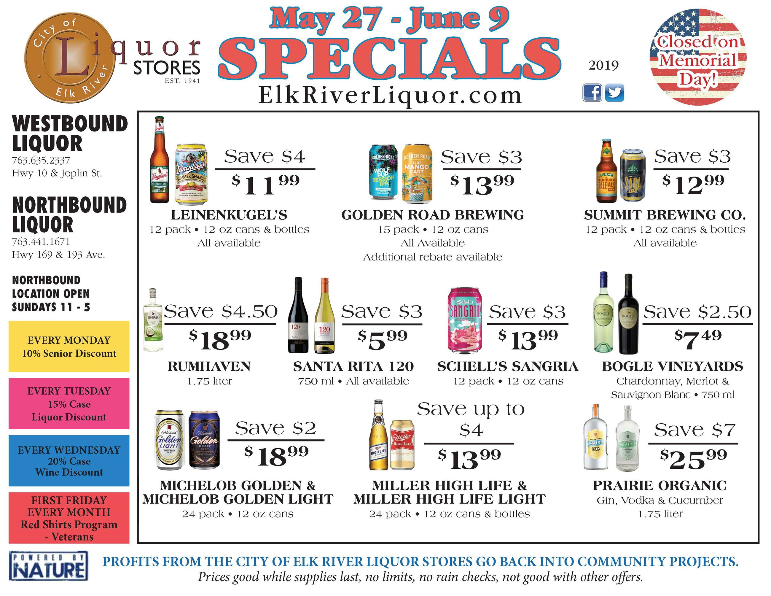 Liquor Store Specials May 27 - June 9