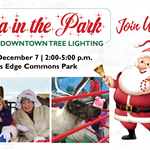 Santa in the Park December 7,  2-5 pm