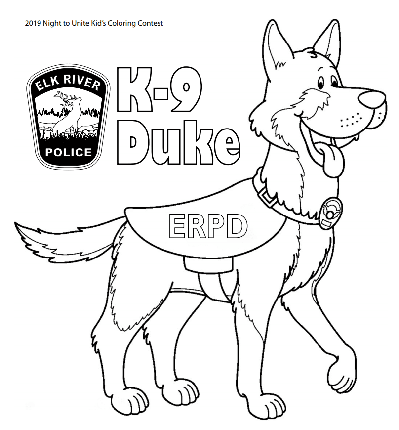 K-9 Coloring page preview Opens in new window