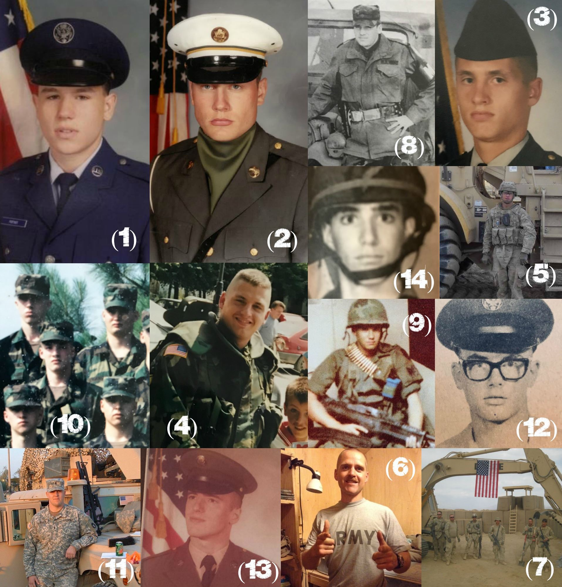 Veterans Day Staff Collage