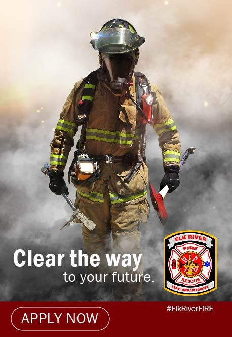 Apply now to become an ERFD firefighter Opens in new window