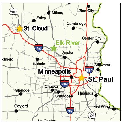 Elk River MN Official Website About Elk River - Minnesota rivers map